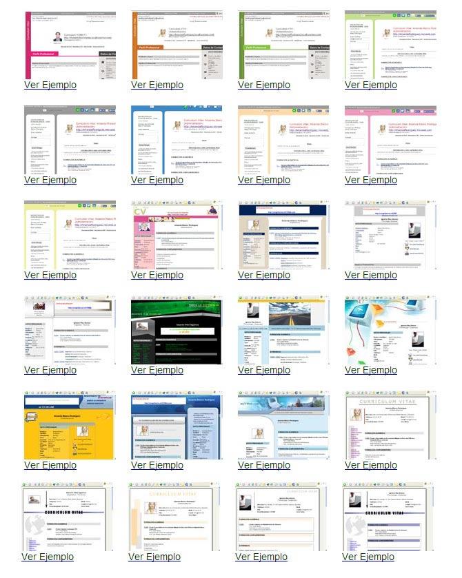 Gratis tu Curriculum Vitae online con mas de 20 modelos de CV